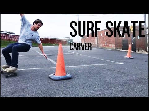 SURF SKATE - Testing out a CARVER board! #courtintheact