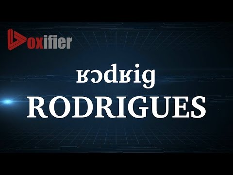 How to Pronunce Rodrigues in French - Voxifier.com