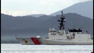 美国海警队在南中国海菲律宾前沿水域参与联训
