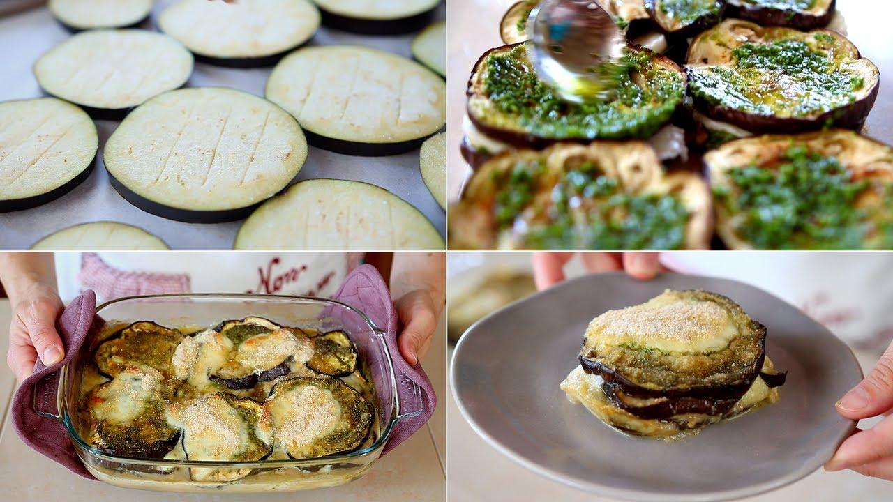 PARMIGIANA BIANCA DI MELANZANE Ricetta Facile - Baked Eggplant With ...