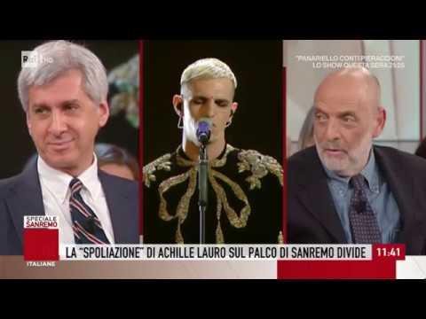 Paolo Brosio in polemica contro Achille Lauro - Storie italiane 14/02/2020