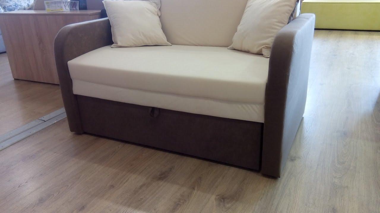 Видеообзор дивана Малютка (производитель Мебель-Сервис) - YouTube