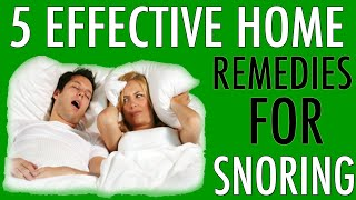 Home Remedies For Snoring – 5 Snoring Remedies That Work Part 1