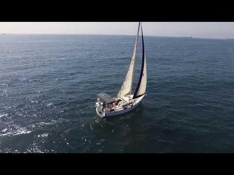 Sailing Santa Monica Bay Drone Video