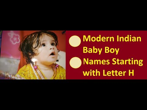 Modern Indian Baby Boy Names Starting with Letter H