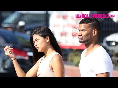 Damien Wayans & Krista Santiago Spotted Waking Down Melrose Ave. 6.26.15  TheHollywoodFix.com
