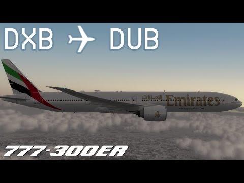[P3D v3] Dubai to Dublin | UAE161 | Emirates | PMDG 777-300ER | IVAO