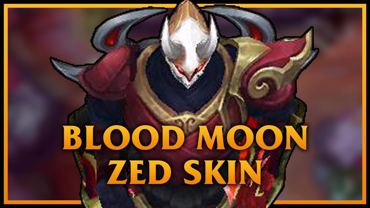 Blood moon zed lol custom skin showcase youtube - Blood moon zed ...