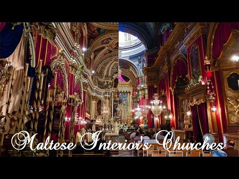 Collection of Interiors Maltese Churches Around Malta - More than 400 Photos!
