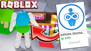 Buying The Infinite Stomach ITS OVERPOWERED In Roblox Om Nom Simulator