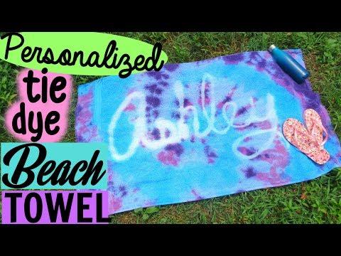DIY CUSTOM TIE DYE BEACH TOWEL