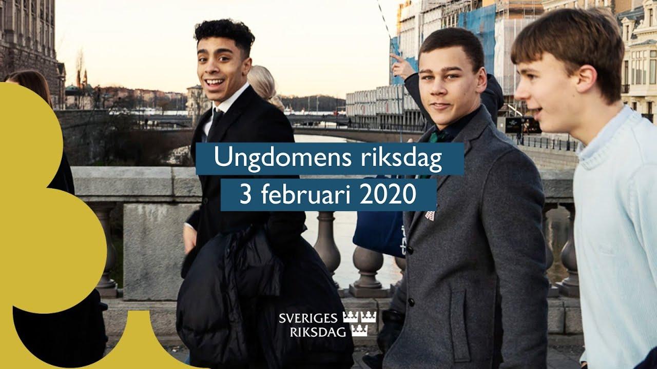 Film från Ungdomens riksdag som genomfördes i riksdagen den 3 februari 2020.