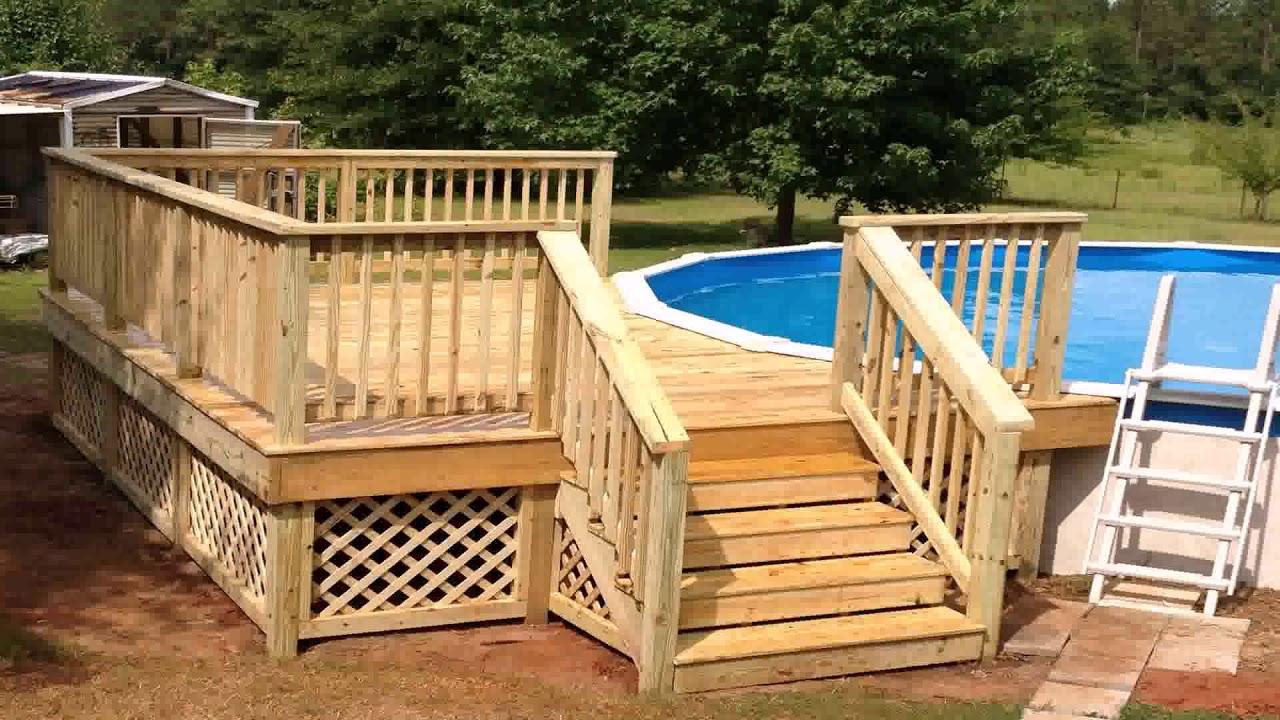 Simple Above Ground Pool Deck Ideas