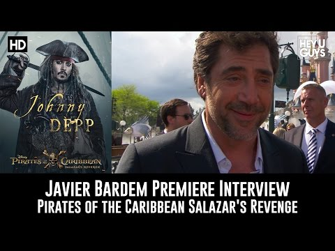 Javier Bardem Premiere Interview - Pirates of the Caribbean: Salazar's Revenge