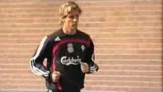 Liverpool Training Featuring Fernando Torres