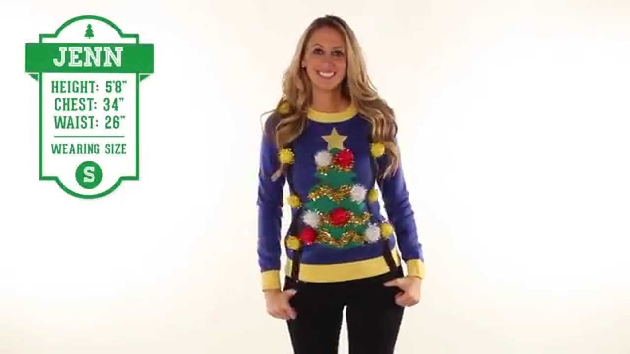 Tacky Christmas Sweater for Women - Ugly Christmas Tree Sweater ...