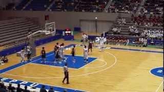 2013インターハイ 明成vs明徳義塾1Q 1 準々決勝 高校バスケ