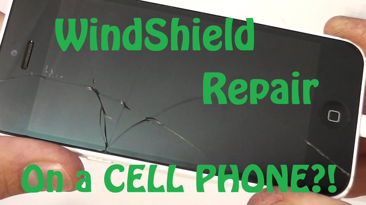Using A Windshield Repair Kit On A Cracked Smart Phone Youtube