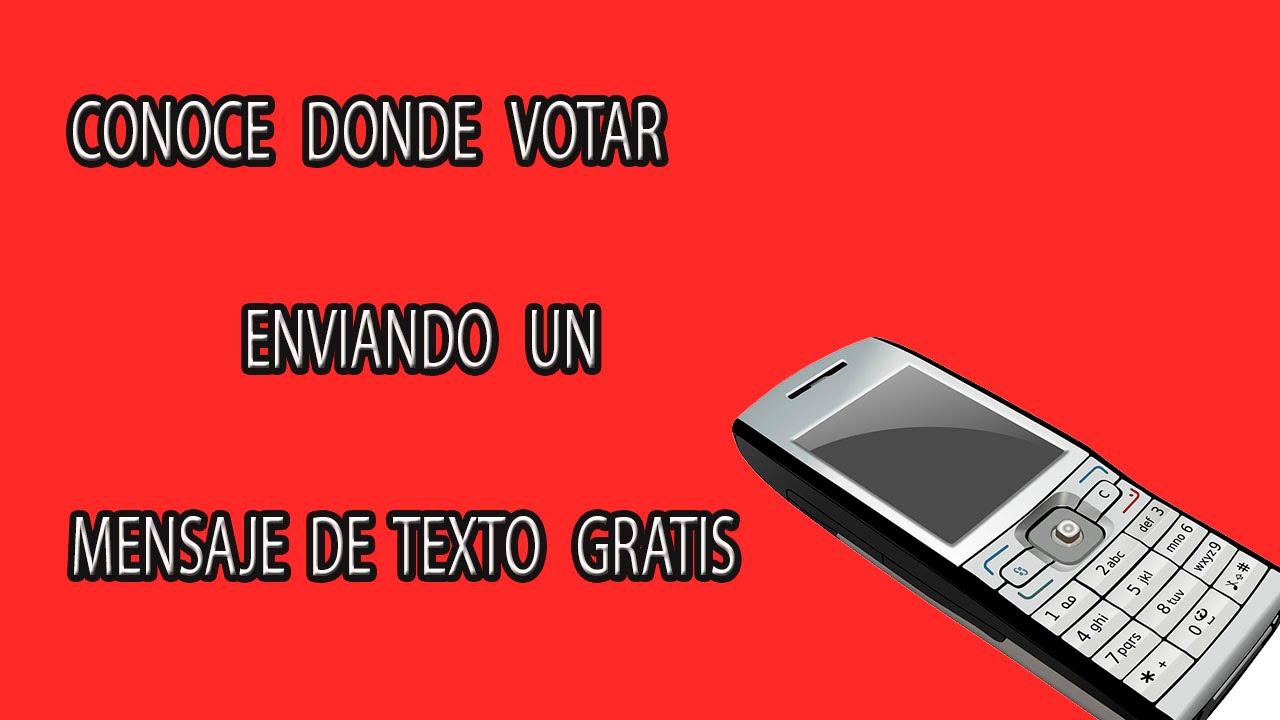 Como Saber Donde Votar| Conoce Tu Local De Votación Enviando Un SMS