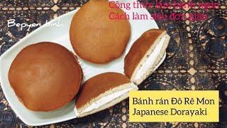 Cách làm bánh rán Đô Rê Mon Japanese Dorayaki Bếp Yên Bình.