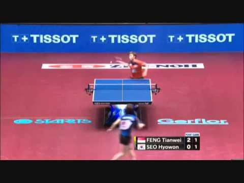 2014 world table tennis championship seo hyo won vs feng - Table tennis world championship 2014 ...
