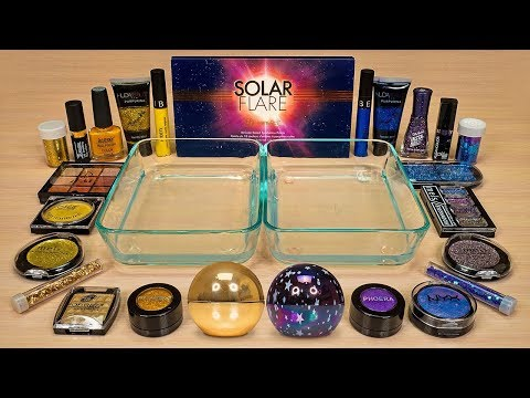 SOLAR FLARE vs. UNIVERSE ! Slime Coloring and Mixing with Makeup ! ASMR Satisfying Slime Video #88