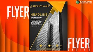Design Flyer Banner Poster : Business For construction corporate