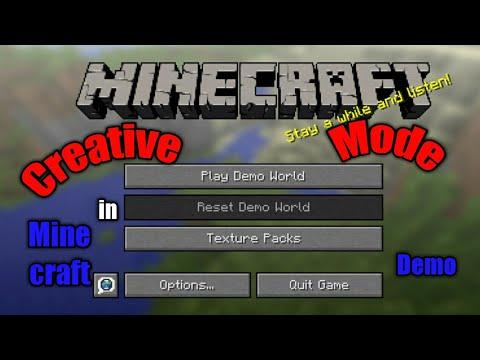Creative Mode In Minecraft Demo Mode Youtube
