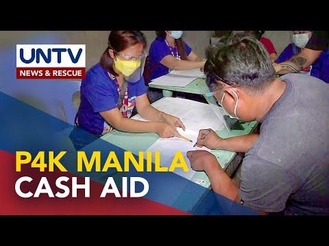 Manila distributes P4,000 cash aid for ECQ-hit residents