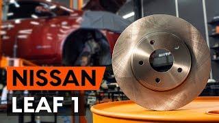Как заменить передние тормозные диски наNISSAN LEAF 1 (ZE0U)[ВИДЕОУРОК AUTODOC]