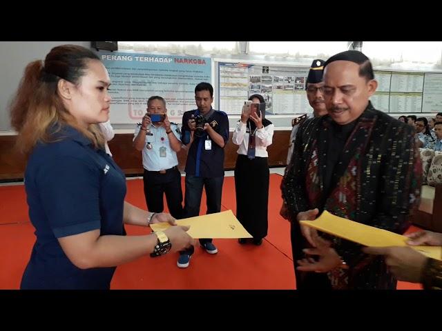 Pemberian Remisi secara Simbolis oleh Kakanwil Lapas Jabar dan Kalapas Kelas IIA Paledang Kota Bogor