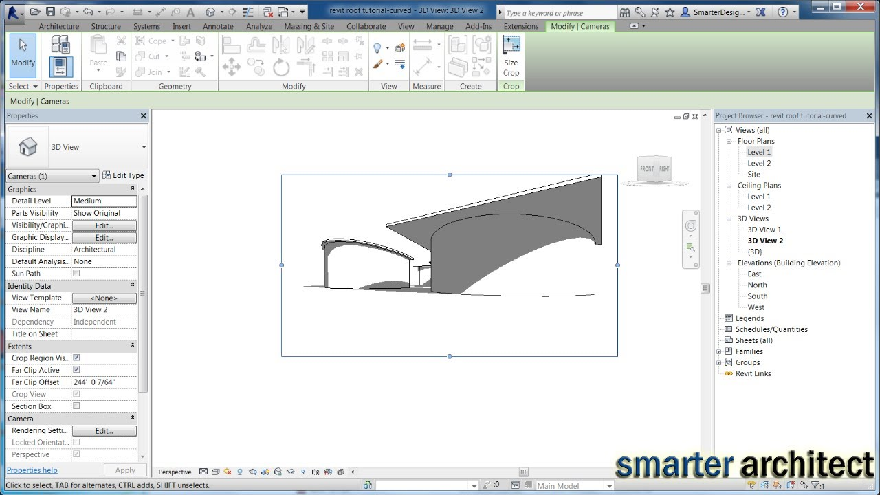 Revit Roof Tutorial Creating A Shed Revit Curved Roof