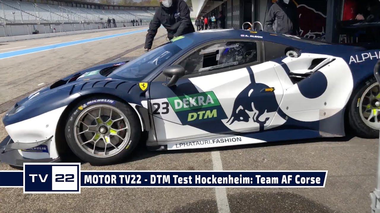 MOTOR TV22: DTM Test Hockenheim - Das Team AF Corse mit dem Alpha Tauri Ferrari