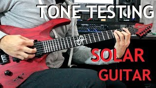 Solar A2.6 Trans Blood Red Guitar - Tone Testing by Stel Andre