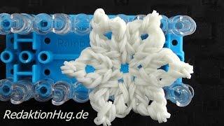 Loom Bands Rainbow Loom Eiskristall Schneeflocke Stern Weihnachten Deutsch - Veronika Hug