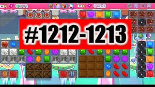 Candy Crush Saga Level 1212-1213, NEW! Complete!