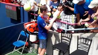 Andy Murray signs autographs for fans in Montreal