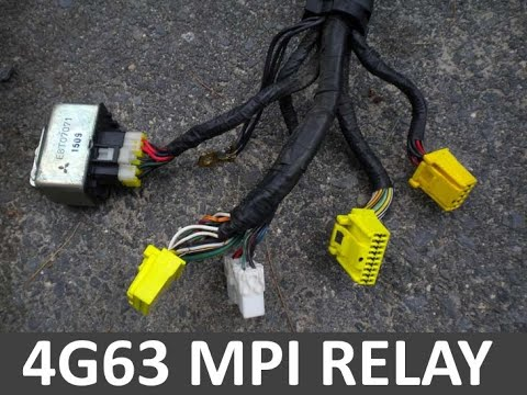 How To Wire A 4g63 Mpi Relay And The Ecu Fuel Pump Wiring Diagram Below Youtube