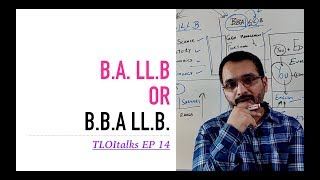 TLOItalks EP 14 | B.A. LL.B or B.B.A LL.B. | Scope | Difference | Which One
