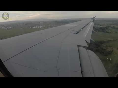 SPOILERS UP!!! German Air Force/ Luftwaffe Airbus A310 WING VIEW on Landing [AirClips]