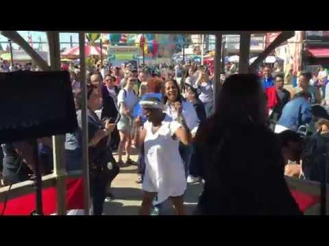 Karaoke Singer at Deno's Wonderwheel Coney Island