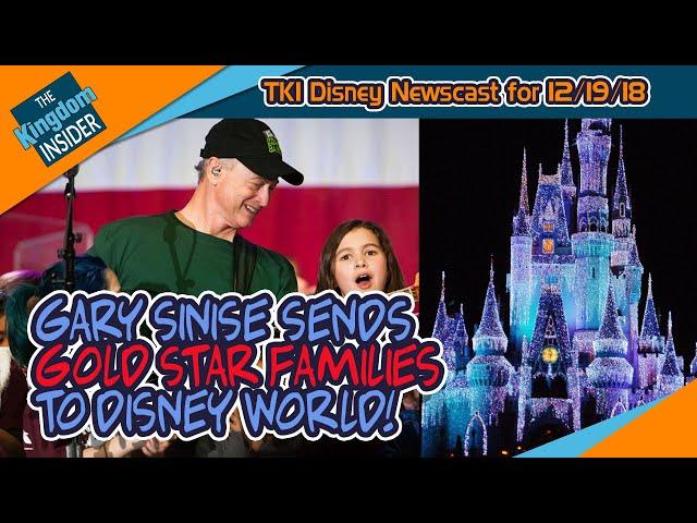 Gary Sinise Sends Military Families to Disney World! Skyliner Update!