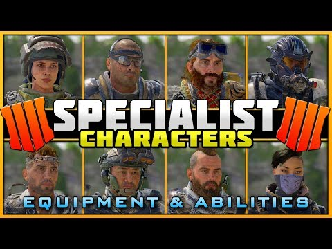All Known Specialist Weapons, Abilities, & Equipment! | BO4 Specialist Character Gameplay!