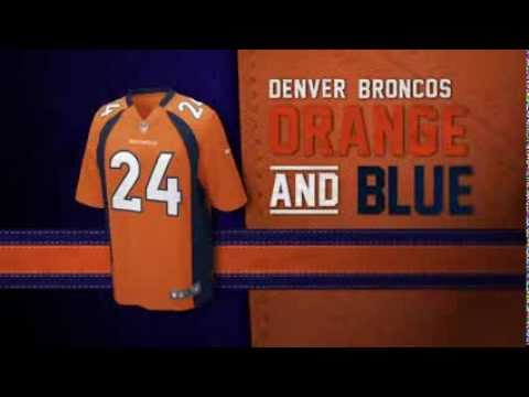 Denver Broncos uniform and uniform color history