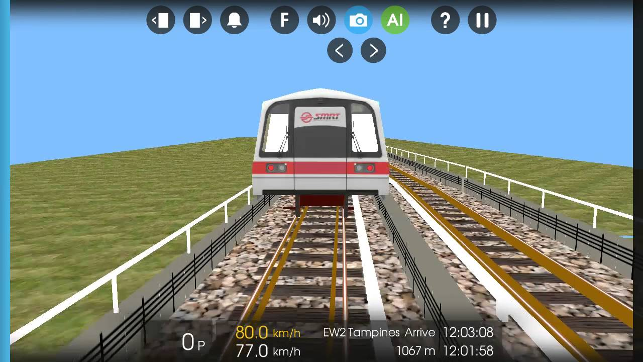 Hmmsim 2 East West Line Test with c651 From Pasir Ris To Tampines