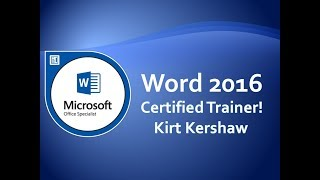 Word 2016: Quick Part's Document Property, AutoText & Field