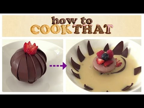 MAGIC CHOCOLATE FLOWER DESSERT How To Cook That Ann Reardon