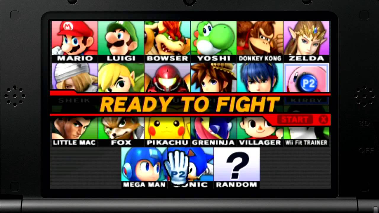 super smash bros 3ds character select music youtube