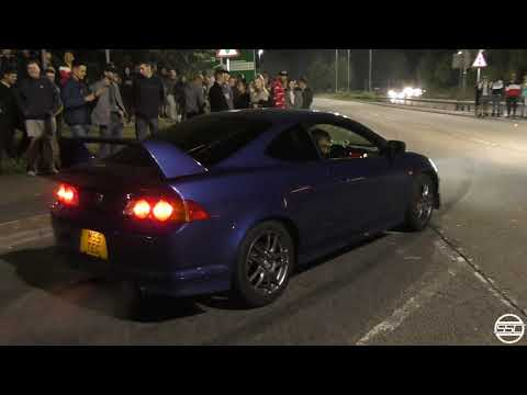 Honda Integra DC5 TURBO- Wicked Sounds At Car Meet!