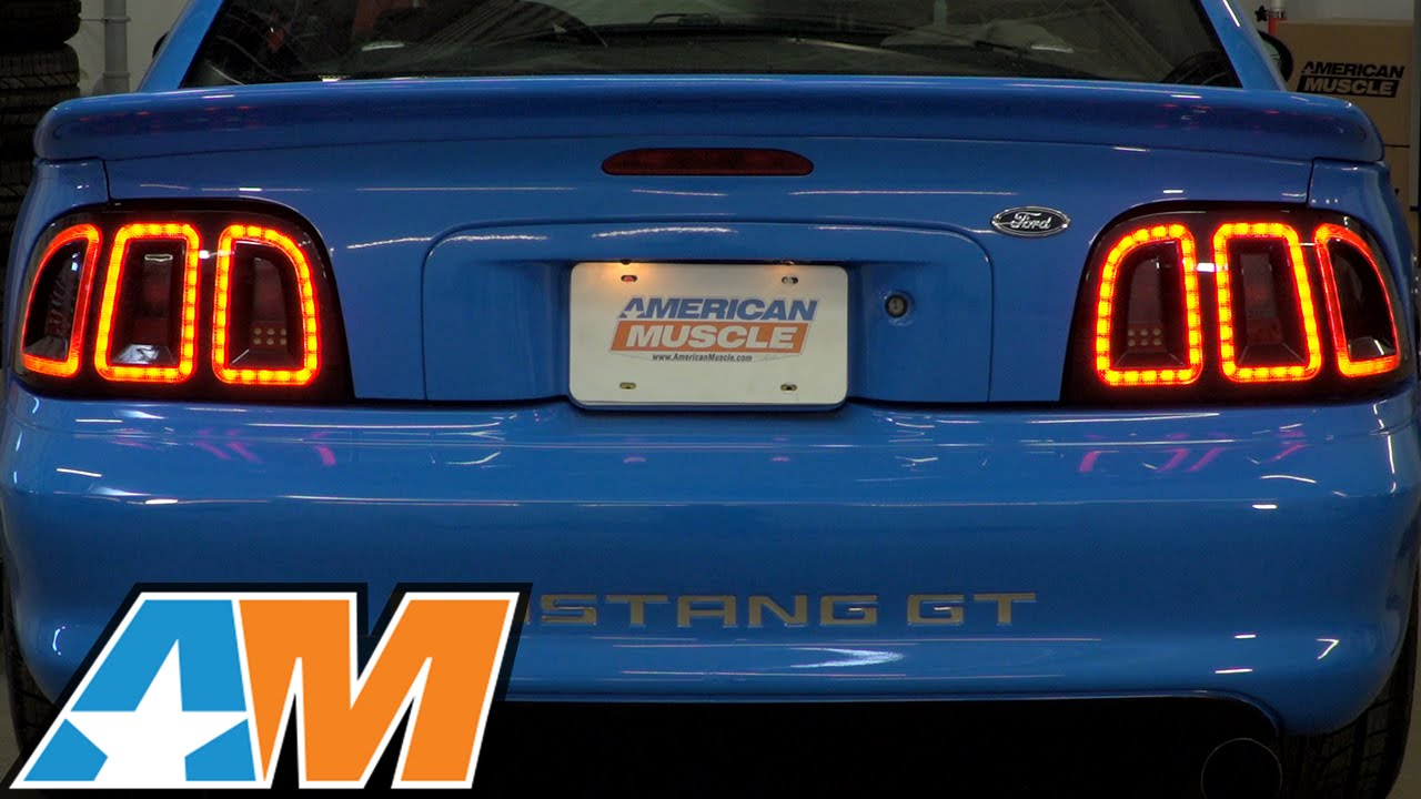 1996 1998 mustang raxiom icon led tail light review install. Black Bedroom Furniture Sets. Home Design Ideas